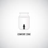 Grafisk design för komfortzon Arkivbilder