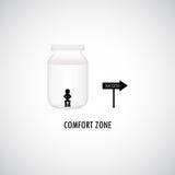Grafisk design för komfortzon Royaltyfria Bilder