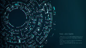 Grafisk design för radiellt galler abstrakt bakgrundsvektor Tratt svart hål royaltyfri illustrationer