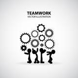 Grafisk design för teamwork Royaltyfri Fotografi