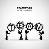 Grafisk design för teamwork Arkivbilder