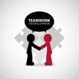 Grafisk design för teamwork Arkivbild