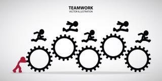 Grafisk design för teamwork Royaltyfria Bilder