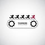 Grafisk design för teamwork Arkivfoto