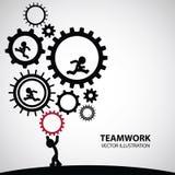 Grafisk design för teamwork Royaltyfri Bild