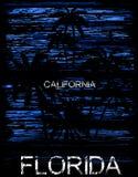 Grafisk design florida Kalifornien för sommarutslagsplats vektor illustrationer