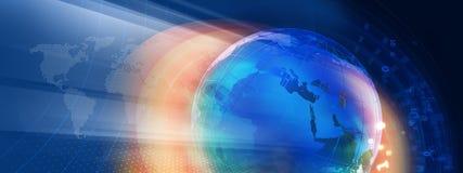 Grafisk digital serie för världsnyheterbanerbegrepp stock illustrationer
