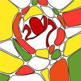 Grafisk färgrik abstrakt illustration Fotografering för Bildbyråer