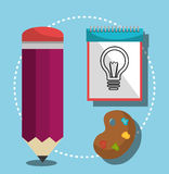 Grafisk formgivare för idérika idéer vektor illustrationer