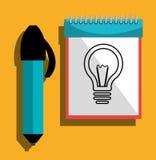 Grafisk formgivare för idérika idéer royaltyfri illustrationer