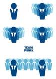 Grafisk framställning av teamwork Fotografering för Bildbyråer