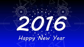 Grafisk fyrverkeriexplosion till 2016 4K stock video