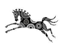 Grafisk häst stock illustrationer