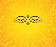 Grafisk illustration av ögon för Buddha` s Royaltyfri Foto