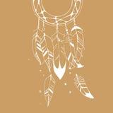 Grafisk illustration av dreamcatcher Royaltyfria Bilder