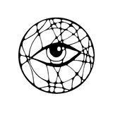 Grafisk illustration med ögat Arkivfoto