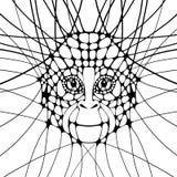Grafisk illustration med apan Royaltyfri Foto