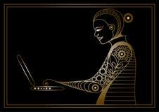 Grafisk illustration med en datoranvändare 2 Royaltyfri Fotografi