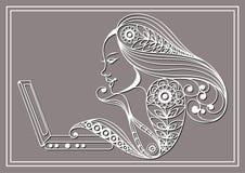 Grafisk illustration med en datoranvändare 30 Royaltyfri Foto