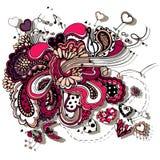 Grafisk illustration med musikanmärkningar Royaltyfri Bild
