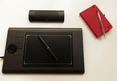 Grafisk minnestavla/Pen Tablet Royaltyfria Foton