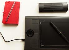 Grafisk minnestavla/Pen Tablet Arkivfoton
