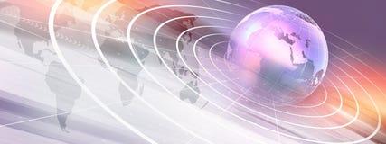 Grafisk modern digital serie för världsnyheterbakgrundsbegrepp stock illustrationer