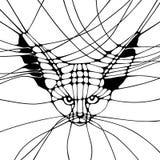 Grafisk monokrom illustration Royaltyfria Bilder