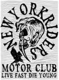 Grafisk motorcykelklubba för utslagsplats Royaltyfria Bilder