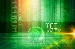 Grafisk serie för begrepp för bakgrund för TechnyheternaTid presentation Stock Illustrationer