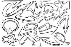Grafisk symbol för blandningpilar med den starka och djärva svarta översikten stock illustrationer
