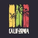 Grafisk t-skjorta design på ämnet av Kalifornien ocks? vektor f?r coreldrawillustration royaltyfri bild