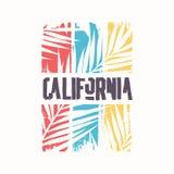 Grafisk t-skjorta design på ämnet av Kalifornien ocks? vektor f?r coreldrawillustration arkivfoto