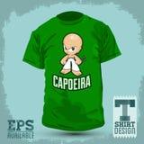 Grafisk T-tröjadesign - Capoeira tecken Royaltyfri Bild