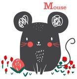 Grafisk tecknad film för gullig mus för ungekonst fotografering för bildbyråer