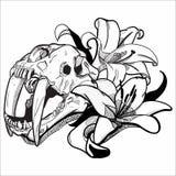 Grafisk teckning | Tiger Lily vektor illustrationer