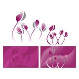 Grafisk vektorillustration för violett lotusblomma Royaltyfri Fotografi