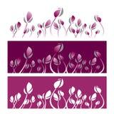 Grafisk vektorillustration för violett lotusblomma Arkivbild