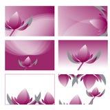 Grafisk vektorillustration för violett lotusblomma Royaltyfria Bilder