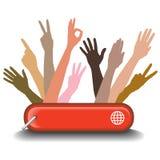 Grafisk visning för mångfald som tillsammans arbetar Royaltyfria Foton