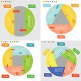 Grafiska affärscirklar för information Royaltyfri Foto