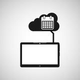 Grafiska apps för massmedia för datum för molnapparatkalender Royaltyfri Bild