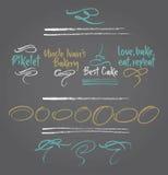 Grafiska beståndsdelar vektor illustrationer