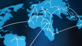 Grafiskt nätverk för världskarta vektor illustrationer