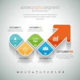 Grafiskt segment Infographic för pil Royaltyfria Foton