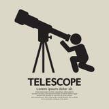 Grafiskt symbol för teleskop Royaltyfri Foto