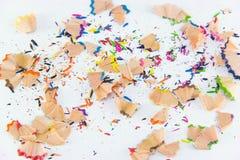 Grafite della matita di colore Fondo variopinto per la vostra progettazione Fotografia Stock Libera da Diritti