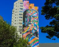 Grafite niemayer royalty free stock photography