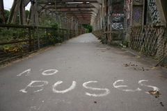 Grafiti Angeben: keine Busse Stockbild