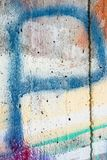 Grafiti Background on the concrete wall. Grafiti in different patterns, letters, splatter and running spray paint, photography in 105mm macro lens royalty free stock photography